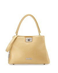 Charles Jourdan Luca Ii Medium Metallic Satchel Yellow
