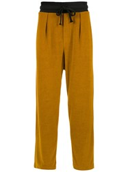 Osklen Pleated Trousers Yellow
