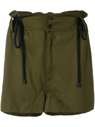 Di Liborio Cargo Pocket Drawstring Shorts Green
