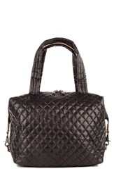 M Z Wallace Mz Wallace 'Large Sutton' Quilted Oxford Nylon Satchel Black