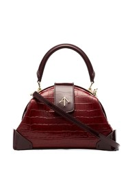 Manu Atelier Demi Top Handle Bag Red