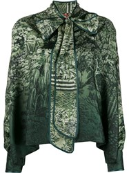 F.R.S For Restless Sleepers Foliage Print Top Green