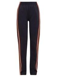 Wales Bonner Crochet Striped Technical Track Pants Black