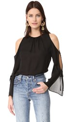 Ramy Brook Norma Blouse Black