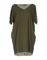 Almeria Short Dresses Military Green