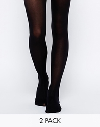 Gipsy 40 Denier Opaque 2 Pack Tights Black