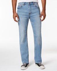 Calvin Klein Jeans Men's Relaxed Straight Fit Stretch Streak Chill Wash