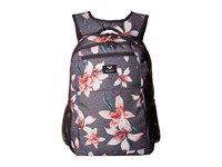 Roxy Here You Are Backpack Charcoal Heather Flower Field Backpack Bags Multi