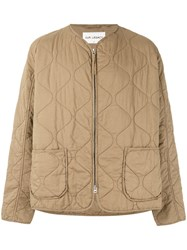 Our Legacy Quilted Zip Jacket Men Cotton M Nude Neutrals