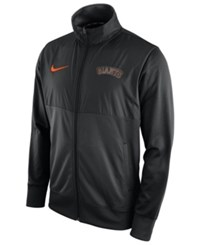 Nike Men's San Francisco Giants Track Jacket Black Black
