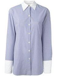 Rag And Bone Striped Shirt Blue