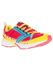 Volta Lace Up Trainer Red