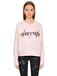Vivetta Logo Printed Cotton Sweatshirt