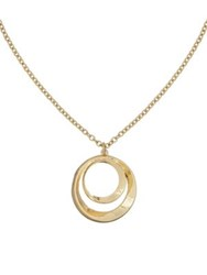 Laundry By Shelli Segal Open Circle Pendant Necklace Gold