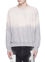 Faith Connexion Lace Up Side Bleached Sweatshirt Grey