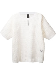 Odeur Cut Out Boxy T Shirt White