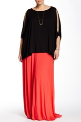 White Label By Rachel Pally Long Maxi Skirt Plus Size Red