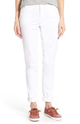 Women's Caslon Chino Ankle Pants White