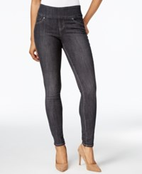 Jag Petite Pull On Nora Grey Wash Skinny Jeans