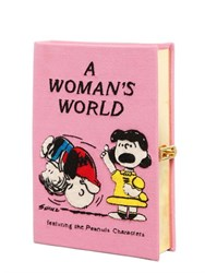 Olympia Le Tan A Woman's World Embroidered Book Clutch