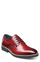 Stacy Adams Barclay Plain Toe Derby Cranberry Leather