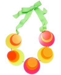 Inc International Concepts Pink And Yellow Disc Ribbon Necklace Only At Macy's Multi
