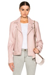 Blk Dnm Leather Jacket 18 In Pink