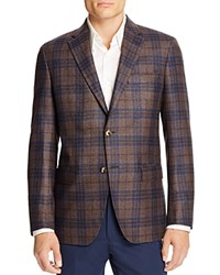0909 Plaid Slim Fit Sport Coat 100 Bloomingdale's Exclusive Brown