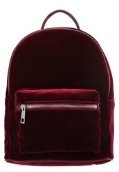 Evenandodd Rucksack Velvet Black Dark Red