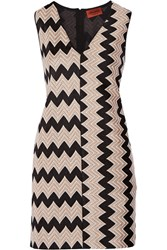 Missoni Crochet Knit Mini Dress Sand