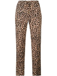 Zadig And Voltaire Leopard Print Trousers Neutrals
