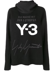 Y 3 Hooded Sweater Black