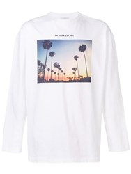 Ih Nom Uh Nit Palm Springs Print T Shirt White