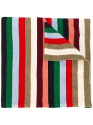 Paul And Joe Striped Knitted Scarf Multicolour