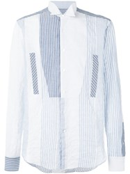 Loewe Striped Shirt Men Cotton Polyurethane 39 Blue