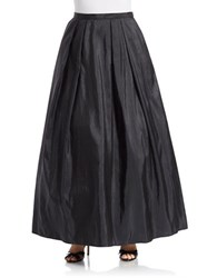 Alex Evenings Plus Taffeta Maxi Skirt Black