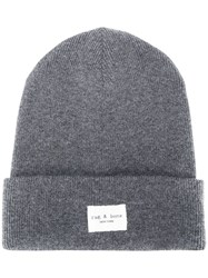 Rag And Bone Logo Ribbed Beanie 60
