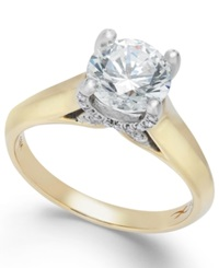X3 Certified Diamond Solitaire Engagement Ring In 18K White Gold 1 1 2 Ct. T.W.