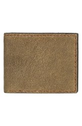 Men's John Varvatos Star Usa 'Brooklyn' Suede Bifold Wallet Green Olive