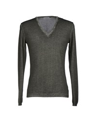 Kangra Cashmere Knitwear Jumpers Men Military Green