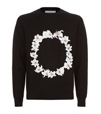 Givenchy Flower Circle Sweater Male Black