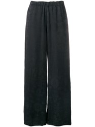 Raquel Allegra Damast Embroidered Trousers Black