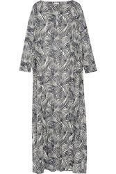 Tomas Maier Printed Cotton Voile Kaftan Black