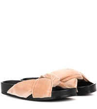 Chloe Flat Slip On Sandals Pink