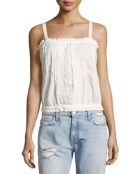 Current Elliott The Eyelet Lace Tank Top White