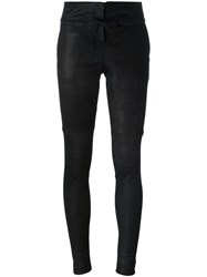 Isabel Benenato Classic Skinny Trousers Black
