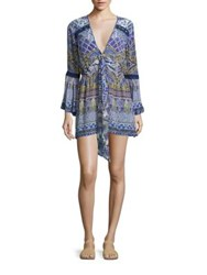 Camilla Silk Bell Sleeve Romper All Dream
