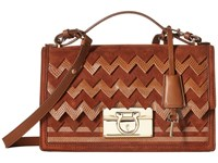 Salvatore Ferragamo Aileen Dark Brown Shoulder Handbags