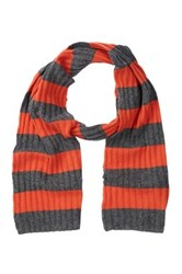 Portolano Orange Striped Scarf