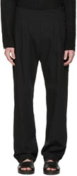 Nude Mm Black Side Button Trousers
